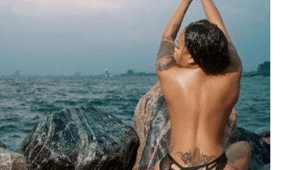 Toyin Lawani's employee massages her naked boobs during spa session
