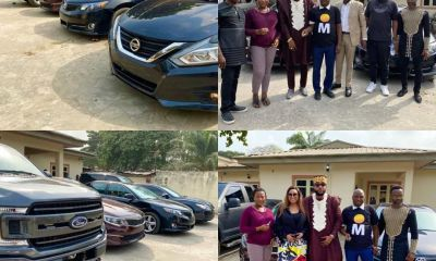E-Money stuns his staff with cars to celebrate his birthday