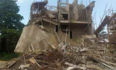 Three-storey building collapses in Enugu, no casualty recorded