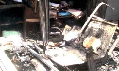 Section of INEC headquarters gutted by fire