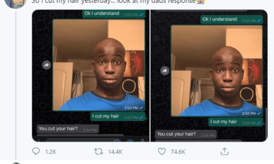 Son shares his father's hilarious reaction to his haircut