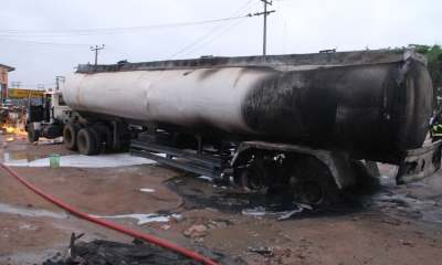 Tanker driver assistant dies in fire outbreak at fuel station topnaija.ng
