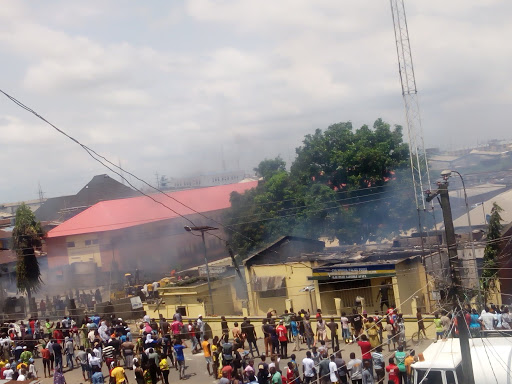 Hoodlums set another Lagos police station on fire