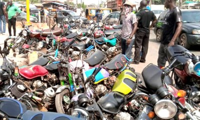 Lagos confiscate 100 motorcycles on restricted routes