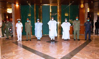 President Buhari meets new service chiefs