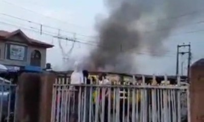 Inferno razes shops in Surulere (video)-TopNaija.ng