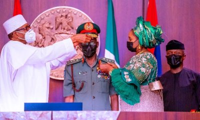 Buhari decorates new service chiefs, promises support [PHOTOS]