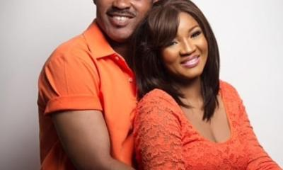 Omotola Jalade-Ekeinde, alongside her husband, Matthew