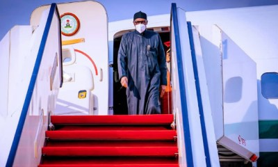 Buhari returns to Nigeria after medical check-up in London [PHOTOS]