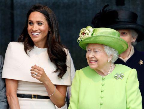 Meghan Markle with Queen Elizabeth