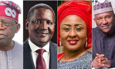 Tinubu, Dangote, Rabiu for Aisha 's book launch, Buhari absent