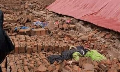Shocking!!! Two dead, 8 injured as church collapses on worshippers in Uganda-TopNaija.ng