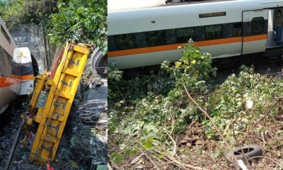 Taiwan: 36 dead and many injured after train carrying 350 people derails [PHOTO]-TopNaija.ng