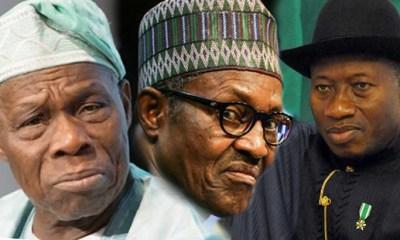 Obasanjo Buhari Jonathan topnaija.ng