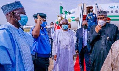 President Buhari returns to Abuja after Paris trip [PHOTOS]