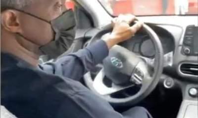 Vice President, Yemi Osinbajo test drives Nigeria's first electric car [VIDEO]