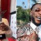 Popular Singer, Burna Boy shows off award as he wins the BET award for the third time
