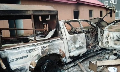 Angry traders set vigilante office ablaze in Umuahia-TopNaija.ng