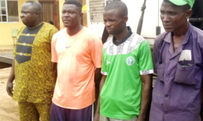 Police arrest four for allegedly stealing telecommunication's generator in Ogun [PHOTO]-TopNaija.ng