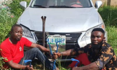 Police arrest two for allegedly robbing a church in Ogun [PHOTO]-TopNaija.ng