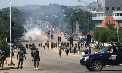 police clash protest nigeria