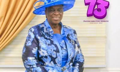 Adeboye, others celebrate wife, Folu @ 73 [PHOTOS]