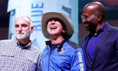 Jeff Bezos Van Jones, chef Andres topnaija.ng
