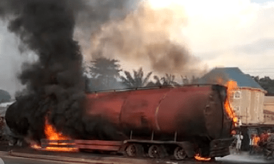 At least two killed, 14 buses burnt as petrol tanker falls into ditch in Anambra-TopNaija.ng