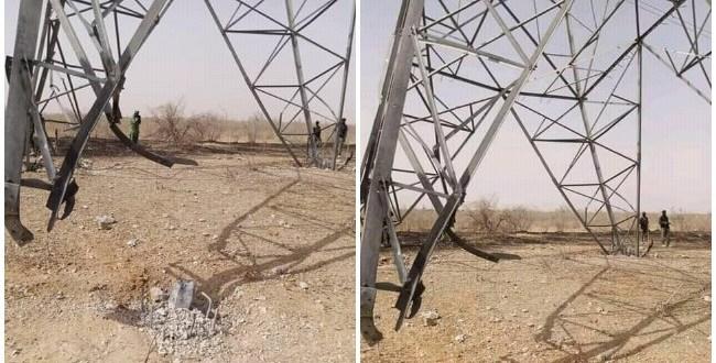 Boko Haram blows up power tower, throws Maiduguri into darkness again