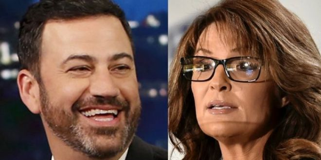Jimmy Kimmel Mocks Sarah Palin For Getting COVID – 'Lipstick On A Pit Bull'
