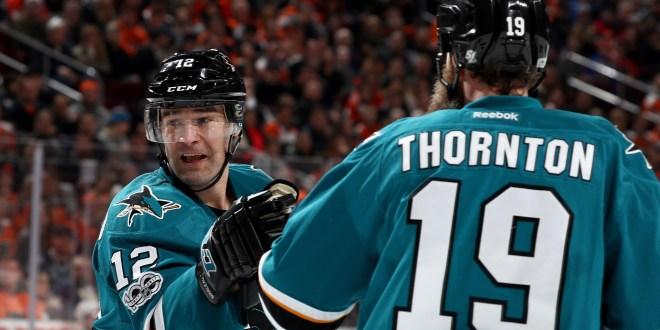Leafs' Joe Thornton hilariously congratulates Patrick Marleau on NHL record