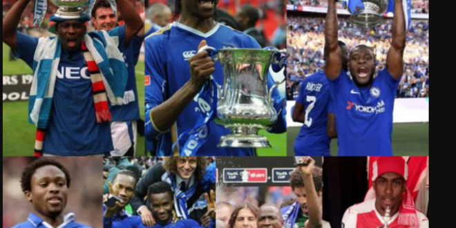 Following Wilfred Ndidi and Kelechi Iheanacho's appearance on Saturday, who are the other Nigerian players that have played in the FA Cup final