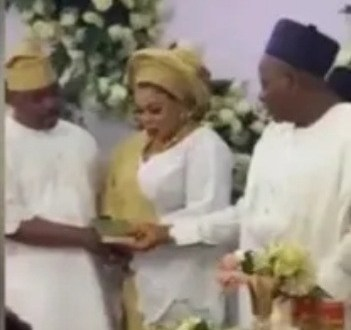 Nigerians react as video of NURTW chairman, MC Oluomo marrying a woman who isn