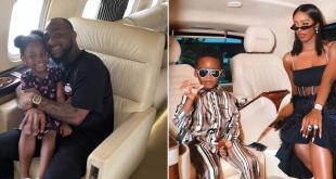 Tiwa Savage and Patoranking's kids attend Davido's daughter Imade's 6th birthday party