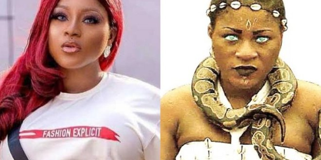 I almost peed when pythons were placed on my neck on set – Destiny Etiko