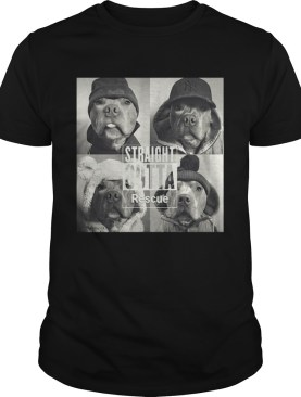Straight Outta Rescue Pitbull Shirt