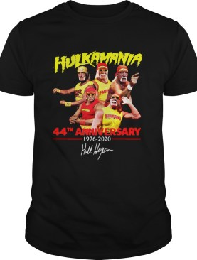 Hulkamania 44th Anniversary 19762020 Signature shirt