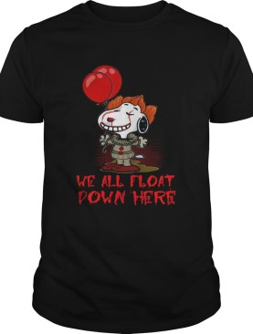 Pennywise and Snoopy we all float down here shirt