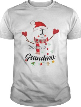 Christmas I Love Being A Grandma Snowman TShirt
