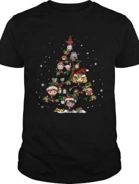 Harry Potter Chibi Characters Christmas Tree shirt