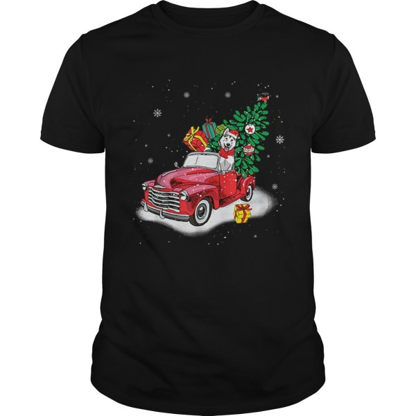 Husky Rides Red Truck Christmas Tree Xmas Gifts  Unisex