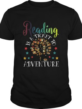 Reading Is A Ticket To Adventure Vintage Reader shirt