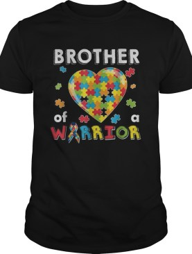 Brother Autism of the warrior Heart Puzzle Autism Awareness shirt
