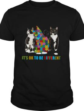 Cat autism It's OK to be different shirt
