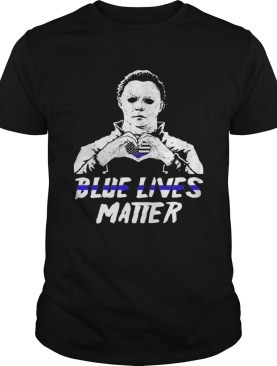 Halloween michael myers blue lives matter american flag independence day shirt