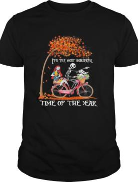 Nightmare riding bicycle it's the most wonderful time of the year leaves tree shirt