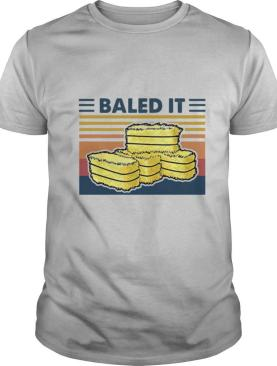 Official Farmer Baled It Vintage Retro shirt