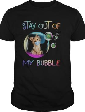 Stay out of my Bubble virus mask Dog shirt