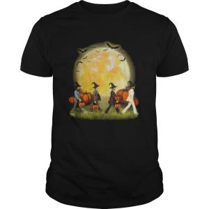 The Beatles Abbey Road Moon Pumpkins Halloween shirt