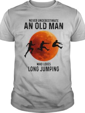 Never Underestimate An Old Man Who Loves Long Jumping Sunset shirt